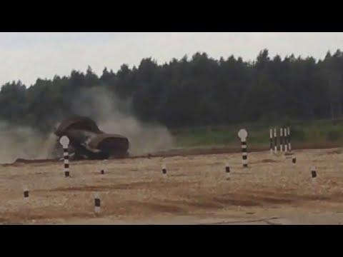 Танковый биатлон. Арабский дрифт с переворотом на танке Т-72Б3 | EE88