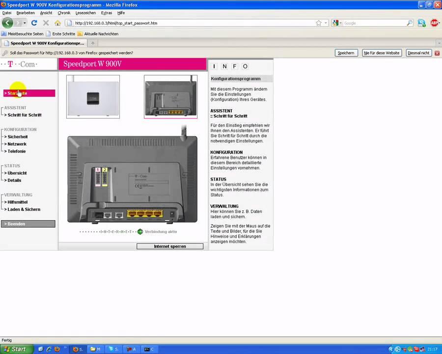 portfreigabe t online router youtube. Black Bedroom Furniture Sets. Home Design Ideas
