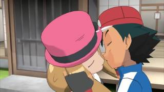 Ash kiss Serena moments HD