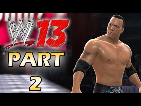 WWE 13 - Attitude Era Mode Walkthrough - The Great One - Part 2 (Gameplay Xbox 360/Ps3)