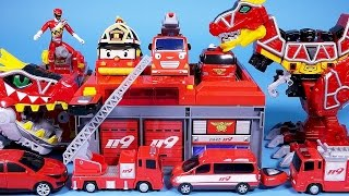 Fire station car toys play