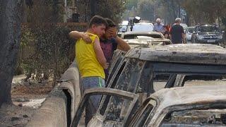 """Verheerende Brände in Griechenland: """"Ich weiß nicht, was mit meiner Frau passiert ist"""""""