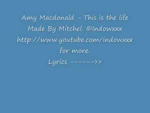 Amy Macdonald - This Is The Life Lyrics video