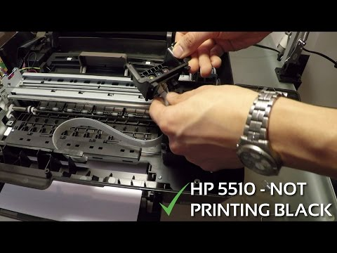 HP 5510 won't print black and colors - printhead removal and cleaning