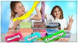MIXING SLIME CHALLENGE ! SMOOTHIE SLIME CHALLENGE! NOTRE COLLECTION DE SLIME ! #2