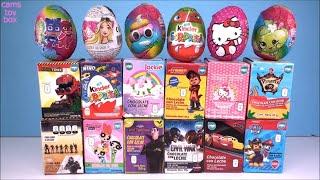 Chocolate Surprise Eggs Paw Patrol Hello Kitty PowerPuff Girls PJ MASKS KINDER Shopkins Jackie TOYS