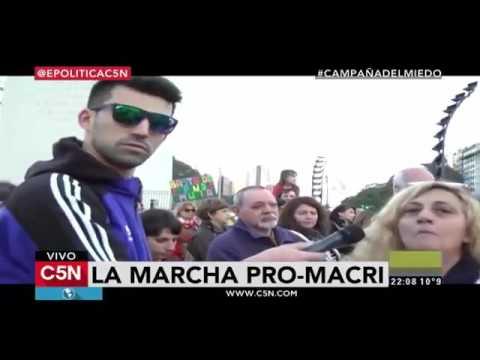 Desopilante móvil de El Cadete desde la marcha Pro-Macri