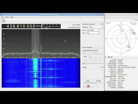Gqrx SDR test on AO-27 orbit 93036