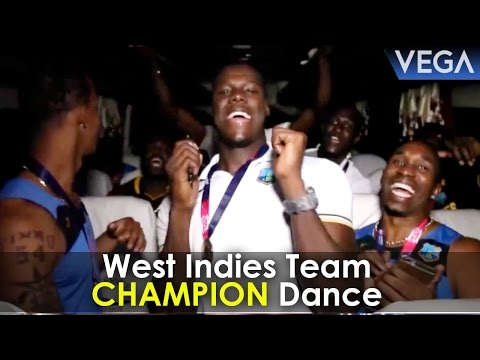 Chris Gayle, Darren Sammy, Bravo & West Indies Cricket Team Celebrations In Bus After T20 Win