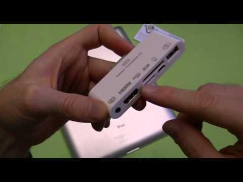 Adattatore KIT 6 in 1 HDMI e Camera Connection lettore SD per IPad 1 2 3