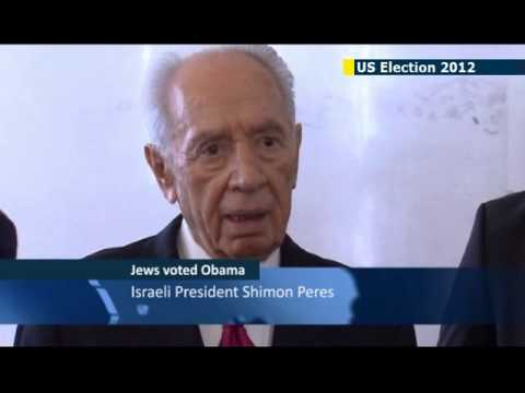 Israel's Peres praises Obama's reelection