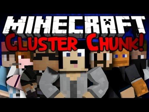 Minecraft: Mini Game: Cluster Chunk! Pt 1/2 - Blue Team