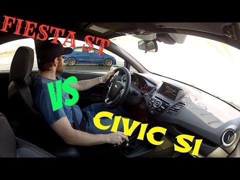 2014 Ford Fiesta ST VS 2008 Civic SI 1/4 mile