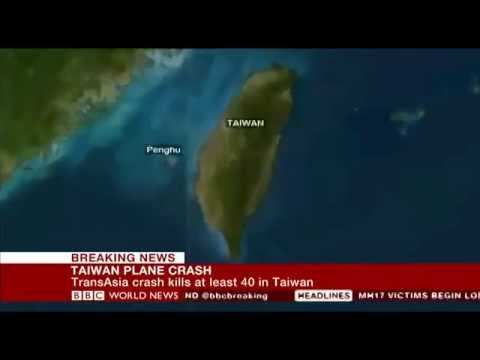 TransAsia Airways crashes in Taiwan, 51 feared dead