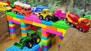 Bridge Construction Vehicles, Dump Trucks Blocks Toys