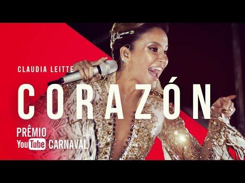 Claudia Leitte - Corazón   Prêmio YouTube Carnaval 2016