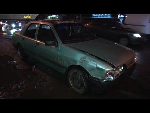 В Києві в ДТП потрапили три легковики