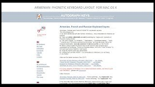 Armenian Phonetic Keyboard Layout for MAC OS X