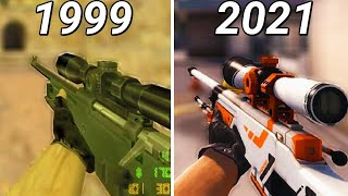 Evolution of AWP from Counter Strike Games (1999-2018)