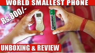 WORLD SMALLEST PHONE UNBOXING AND FULL REVIEW/ it's very cheap price