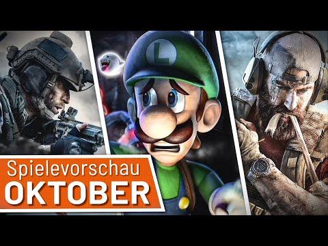 Neue Spiele im Oktober: CoD: Modern Warfare, Luigi's Mansion 3, Ghost Recon Breakpoint uvm.