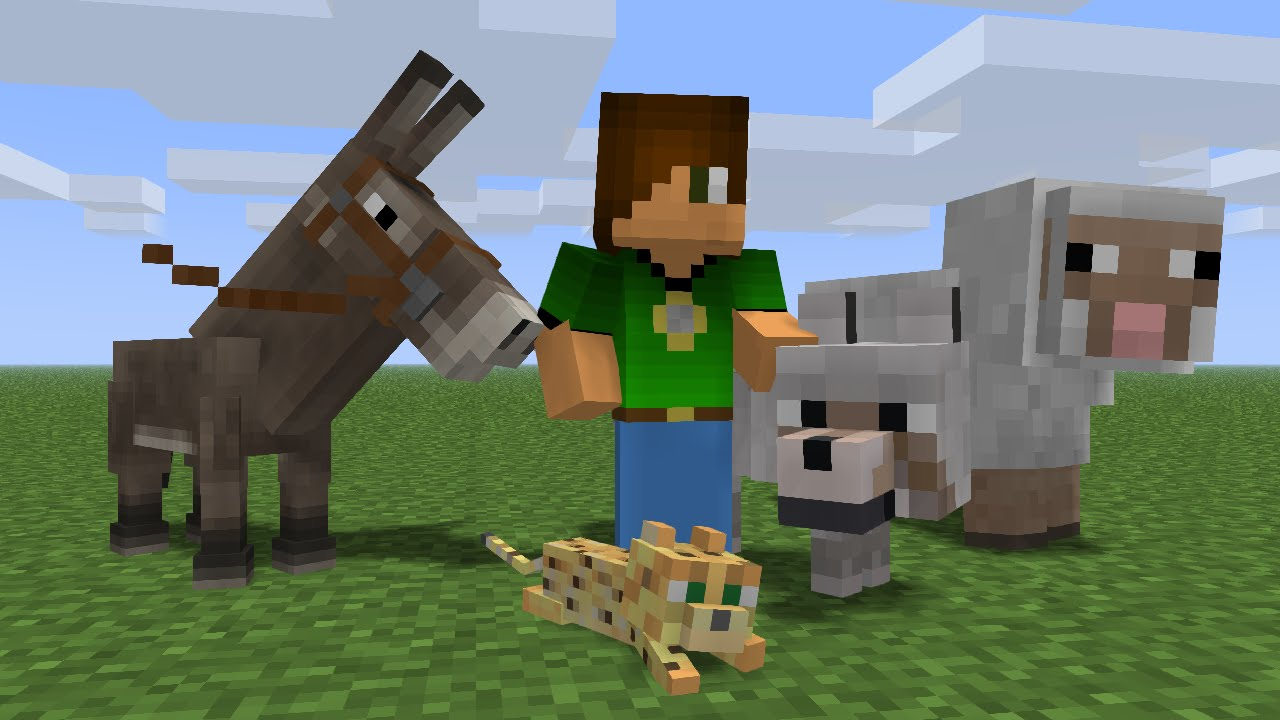 how to move animals in minecraft