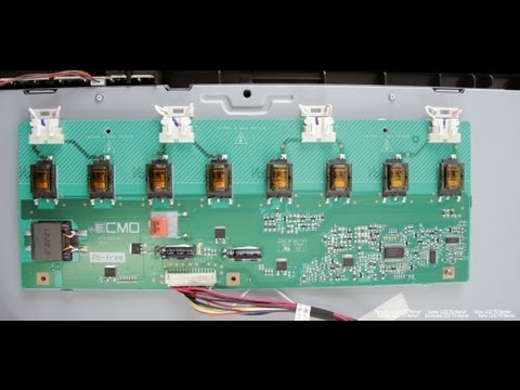 LCD TV Repair Tutorial - Backlight Inverter Common Symptoms & Solutions - How to Fix LCD TVs