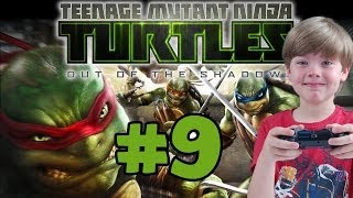 Playing TMNT: Out of the Shadows (Part 9) (KID GAMING)
