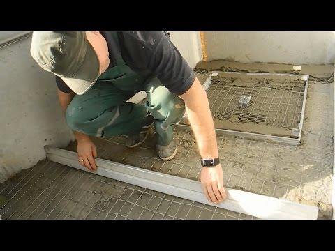 Как сделать стяжку на балконе с пожарным люком ч.3.