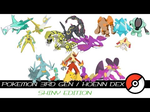 Pokemon 3rd Gen / Hoenn Dex (Shiny)