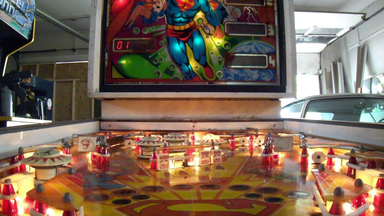 FOR SALE SUPERMAN 2FER ATARI SUPERMAN PINBALL MACHINE ...
