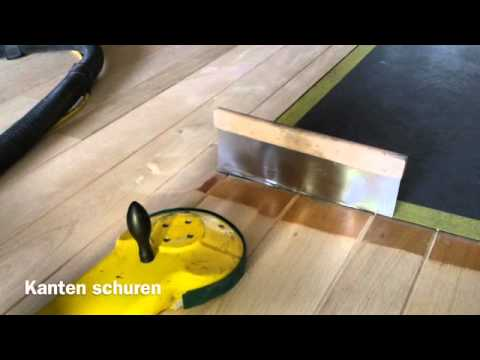Steigerhout schuren en lakken