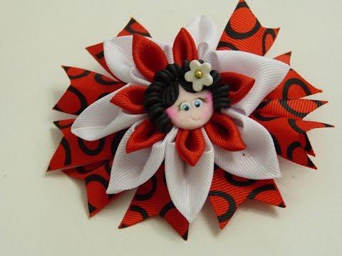 Como Hacer Moños y Flores Diseño escolar,How to Make Bows and Flowers