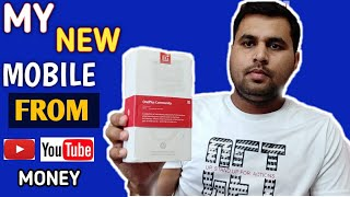 I bought a new phone from youtube money,OnePlus7 mobile Unboxing and review.