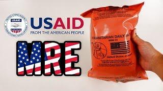 Provei a Ração HUMANITÁRIA dos EUA! Um presente do povo americano!