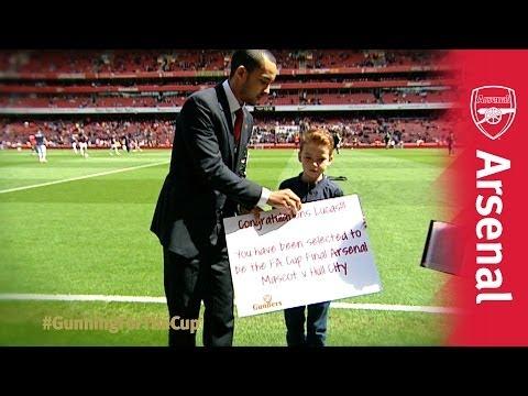 Theo Walcott surprises Junior Gunner