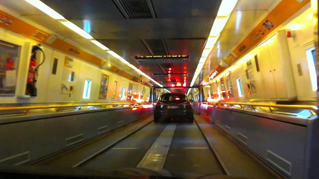 Boarding the Channel Tunnel train - YouTube
