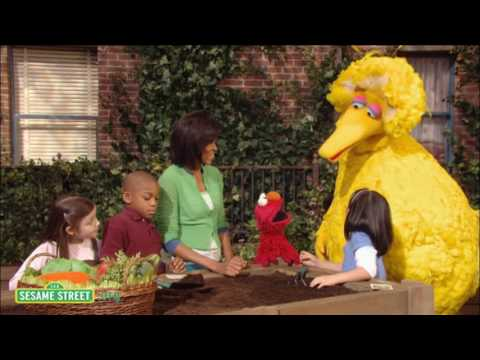 Sesame Street: Mrs. Obama Plants Garden