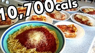 Massive Italian Feast Challenge 10 700 Calories