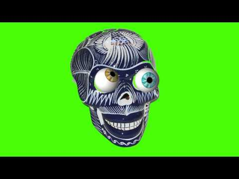SKULLS SELECTION  EYEBALLS FREE GREEN SCREEN thumbnail