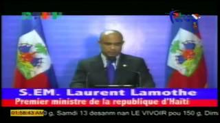 VIDEO: Haiti - Demission Premier Ministre Laurent Lamothe - Message a la Nation