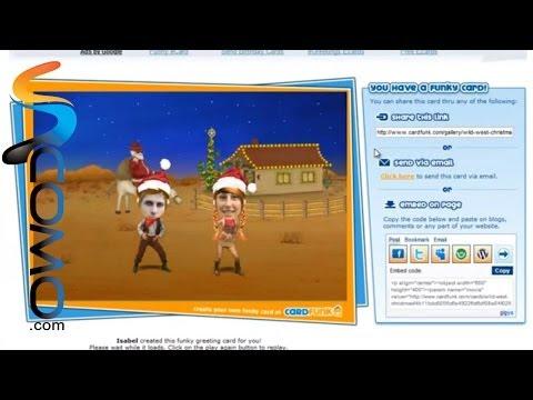 Cómo hacer tarjetas navideñas animadas online