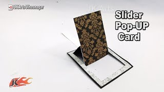 DIY Pop Up Slider Card for Scrapbook | JK Arts 1255