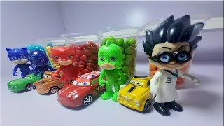 #mcqueen #pjmasks #learncolor  learn colors with wrong heads pj masks and mcqueen  car