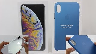 iPhone XS Max (Silver) & Cape Cod Blue Leather Case Unboxing!