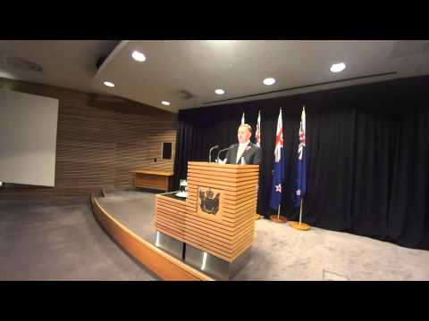 NZ PM John Key's Post Cabinet Press Conference 22 April 2014.