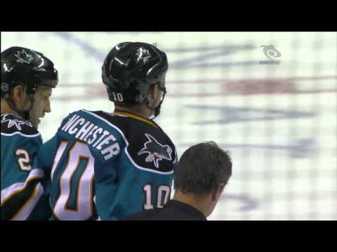 Volpatti KO's Winchester With One Punch - Canucks Vs Sharks - HD (video)