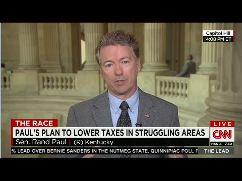 Rand Paul Discusses Economic Freedom Zones on CNN
