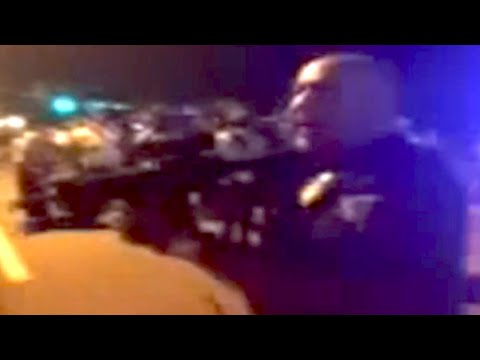 Officer 'go F*ck Yourself' Threatens To Kill Ferguson Protestor video