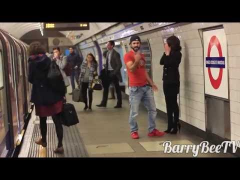 KISSING GIRLS in LONDON SUBWAY! Social Experiment!